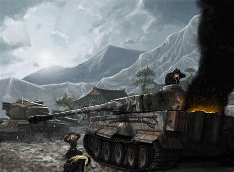 Rsby 496 Black Big 壁紙 ガールズ パンツァー 戦車 ワールドオブタンクス アニメ ダウンロード 写真