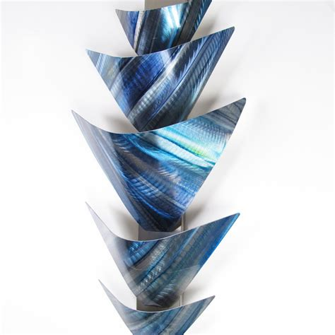 wall decor sculpture quot torchiere series quot 40 quot x24 quot modern abstract metal