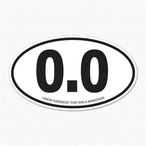 Sticker So 0 0 marathon oval sticker sticker genius