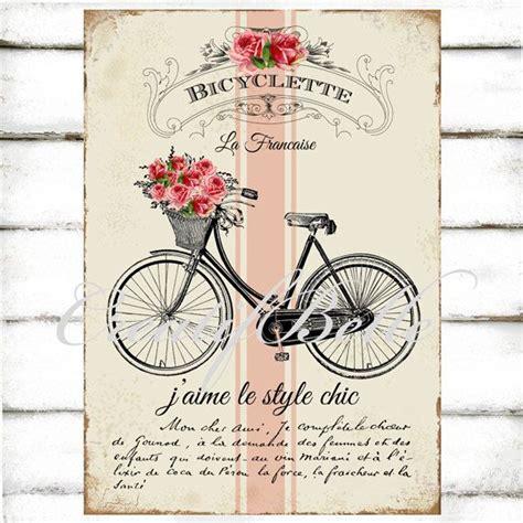 Transfer Letter Bike vintage shabby chic bicycle large instant digital