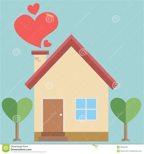 house of love house of love stock vector image 50689409