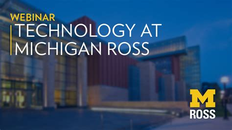 Ross Mba Tech by Careers In Technology Michigan Ross