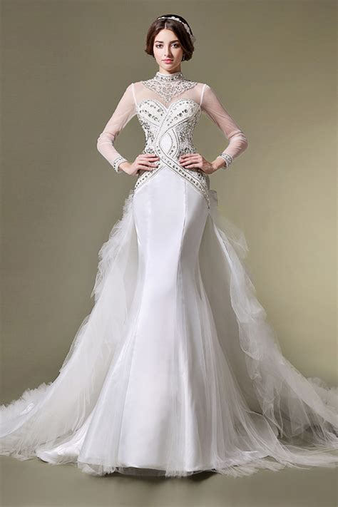 wedding event dress  women love long sleeves bridal