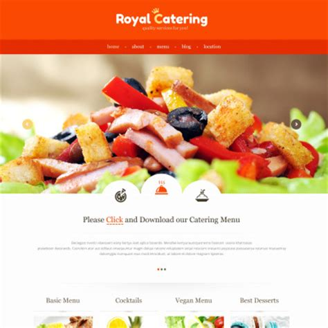 templates for catering website catering website templates