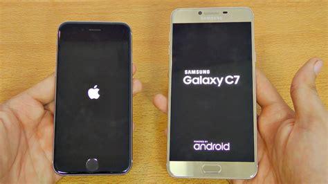 samsung galaxy c7 vs iphone 6s speed test 4k