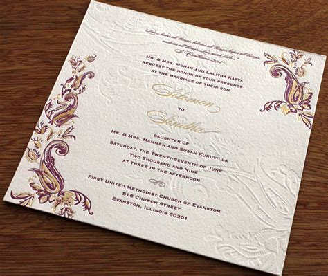 hindu wedding invitation card designs indian themes hindu inspiration letterpress wedding