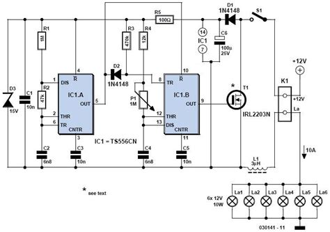 Diy Electronic Projects 12v light dimmer circuit