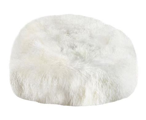big white fluffy bean bag fibre by auskin tibetan lambskin bean bag chair 3 filled