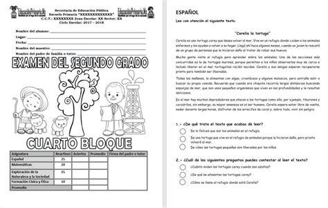 preguntas de matematicas para cuarto grado examen del segundo grado del cuarto bloque del ciclo