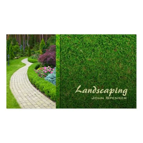 Landscaping Lawn Care Gardener Business Card Zazzle Landscaping Business Cards