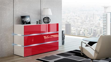 kommode rot hochglanz kaufexpert kommode shine sideboard 120 cm rot hochglanz