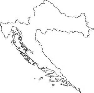 outline map of croatia outline map