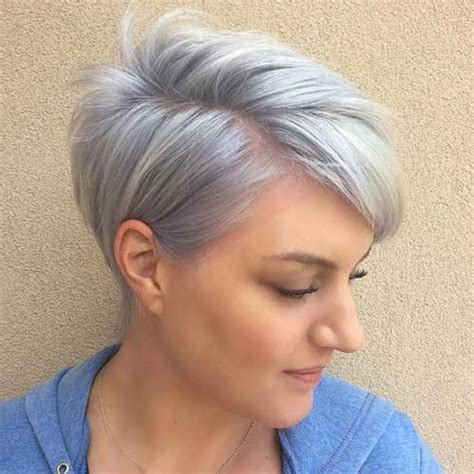short cuts for grey thin hair short haircuts for fine hair hairiz