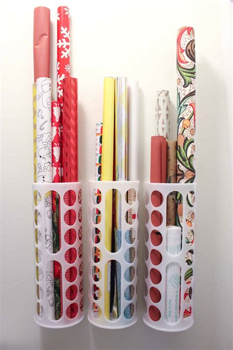 storage for gift wrapping paper diy vertical wrapping paper storage idea ikea hack