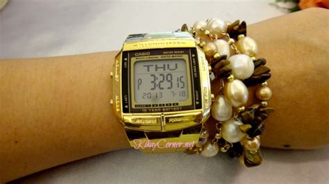 Jam Tangan Casio Db 360 Gold casio vintage db 360 gold with databank feature kikay corner
