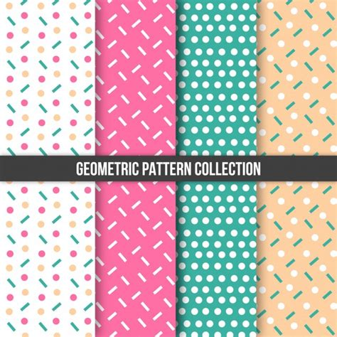 Pattern Collection Download | geometric pattern collection vector free download