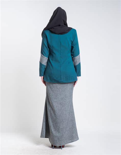 Baju Kurung Moden Pendek Terkini baju kurung moden mini pendek turqouise aimie
