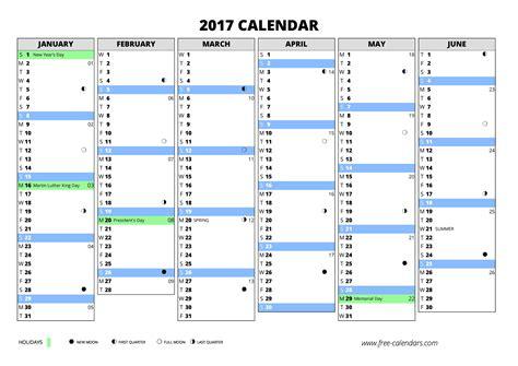Calendar Week 2017 2017 Calendar Free Calendars
