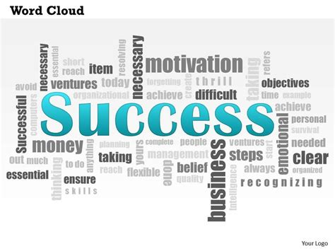 0614 Success Word Cloud Powerpoint Slide Template Free Word Cloud Template For Powerpoint