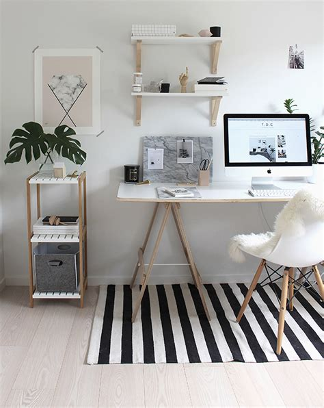 home office decor para copiar home office neutro branco e madeira crua