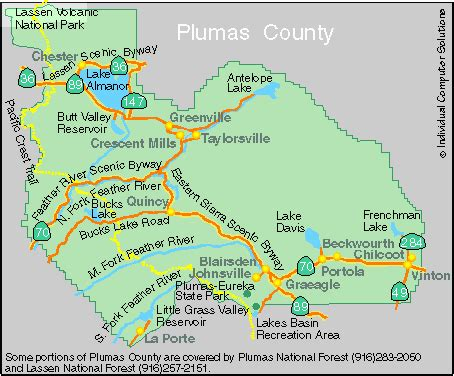 quincy california map northern california area map images
