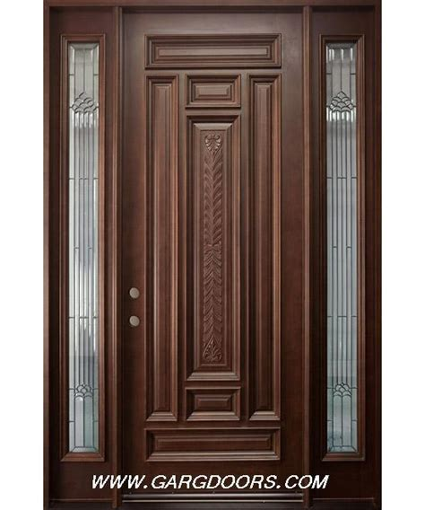 Main door with mid panel hand carved full solid teak hard wood very