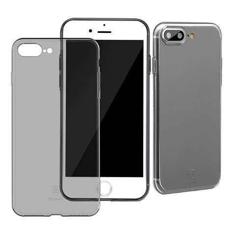 Baseus Simple Shock Proof Tpu For Iphone 7 Plus Transparent baseus simple tpu for iphone 7 plus transparent black