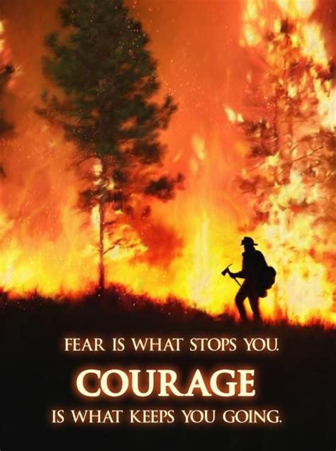 firefighter quotes  courage quotesgram