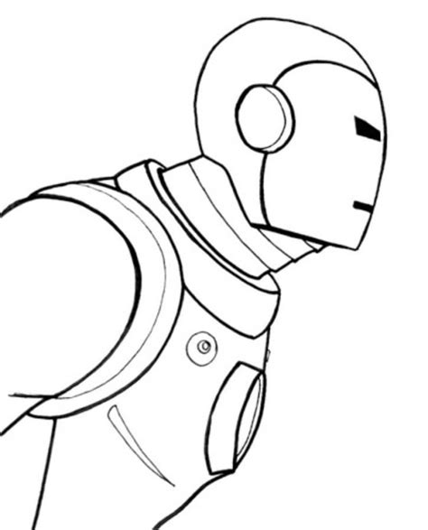 easy iron man coloring page easy drawing for kids cliparts co