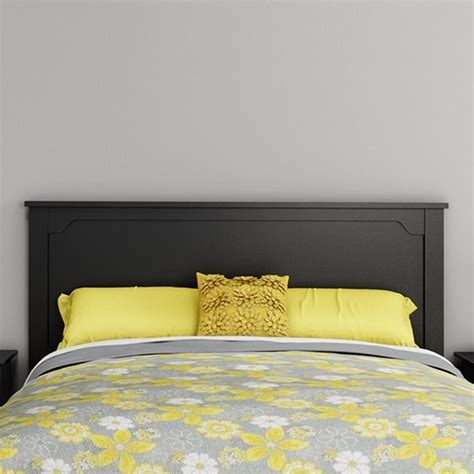 dark wood headboard queen south shore fusion wood full queen headboard in black