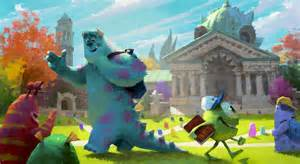 beautiful concept art released pixar monsters university animation