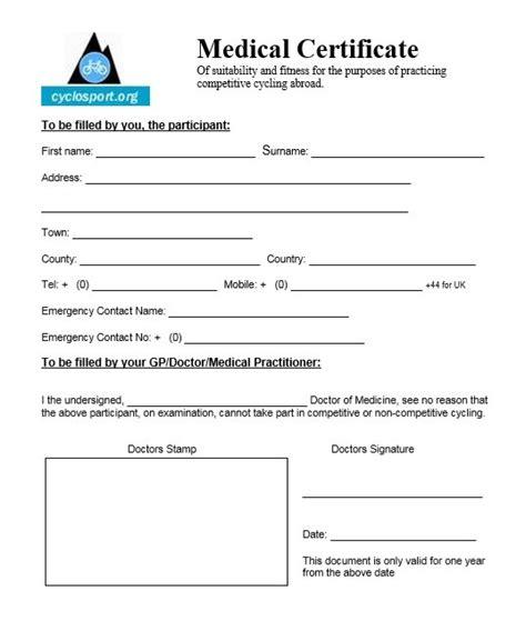 doctors certificate template 8 free sample medical certificate
