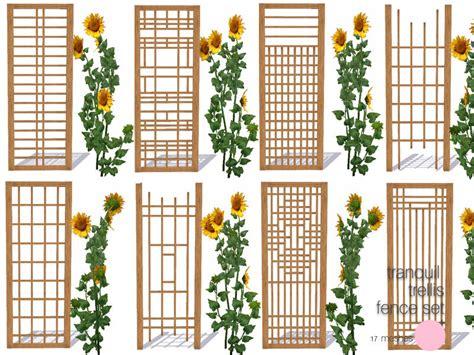Trellis Fences Dot S Tranquil Trellis Fence Set