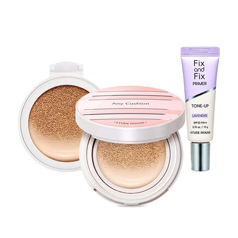 Etude House Any Cushion All Day Special Set Beige etude house any cushion all day planning set 38g korean cosmetic skincare shop malaysia