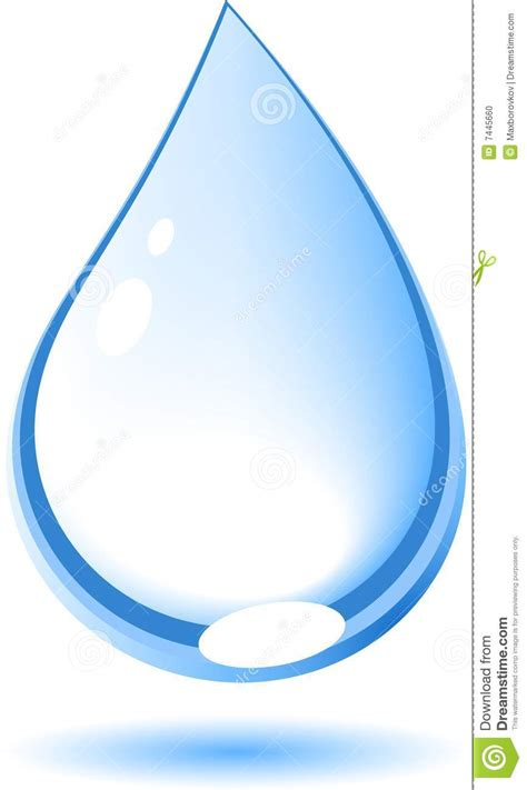 a drop in the drop stock vector image of reflection curve rippled 7445660