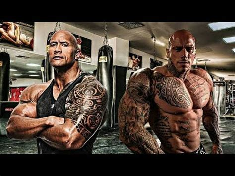 dwayne johnson tattoo wiki martyn ford and the rock giant vs monster youtube