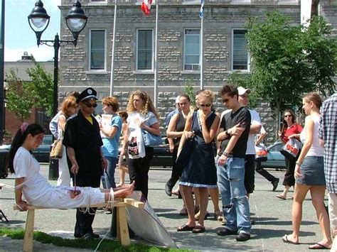 tiger bench torture montreal anti torture exhibition canadian policeman