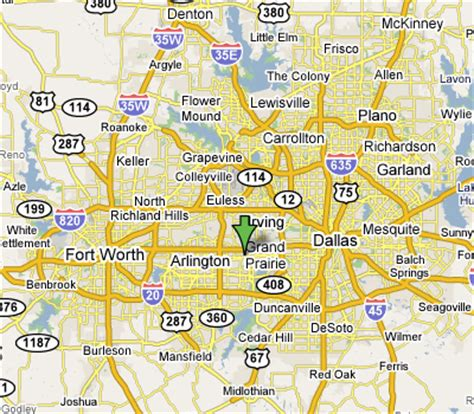 grand prairie texas map grand prairie texas map and grand prairie texas satellite image