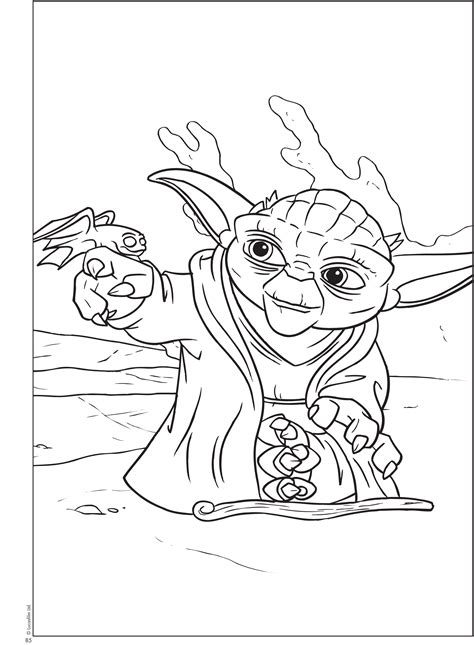 coloring page yoda free printable star wars coloring kids