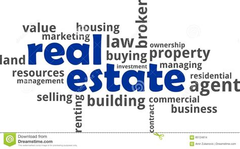 A Word On Reality by Real Estate Word Cloud Vector Cartoondealer