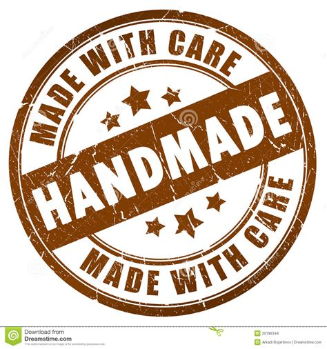 What Does Handcrafted - handmade stock illustration illustration of made st