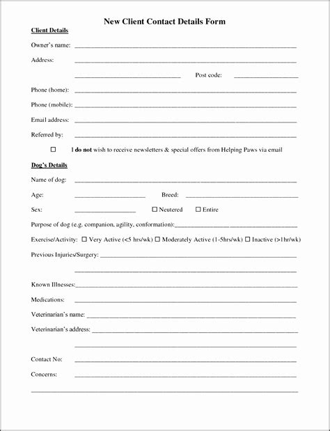 5 Customer Information Sheet Template Sletemplatess Sletemplatess Tax Client Information Sheet Template