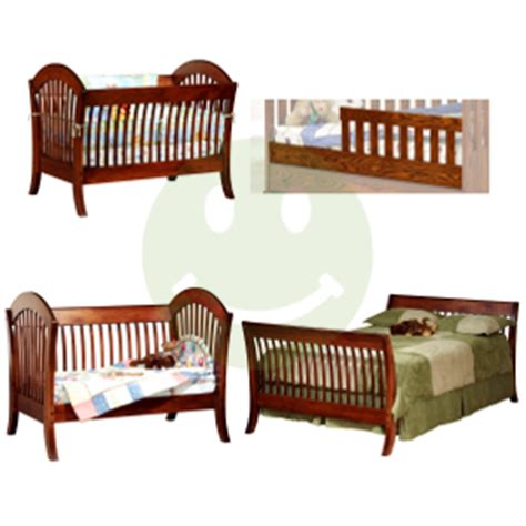 Made Cribs by Solid Wood Cribs Amish 4 In 1 Convertible Crib Pacifica