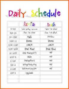 Daily Routine Template by Daily Routine Template Family Member Daily Task Schedule