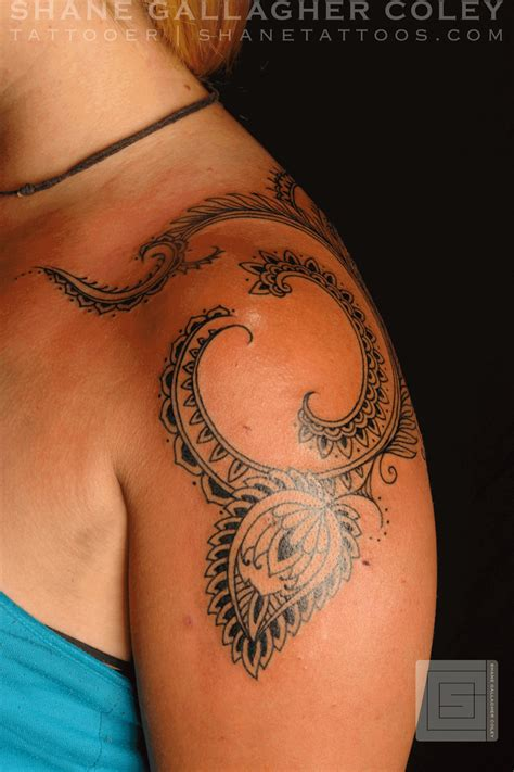 henna tattoo shoulder shane tattoos mehndi inspired shoulder