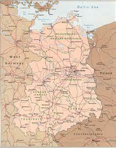 map of east towns east germany map