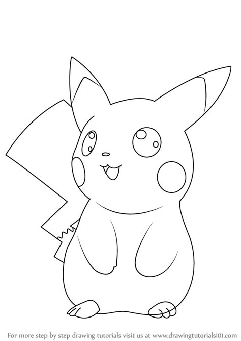 ninja pikachu coloring page learn how to draw ninja pikachu from pokemon pokemon