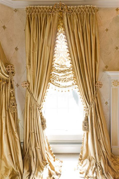 smocked curtains beautifully smocked silk curtains with sheer roman