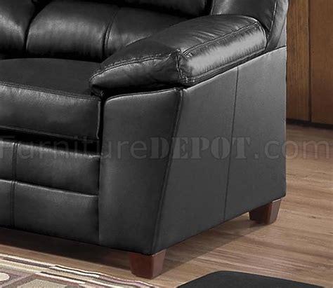 baseball sofa black bonded leather living room w baseball stitch seams