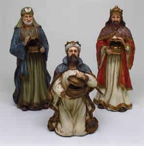 Details about nativity three wise men statue collect figurine museum